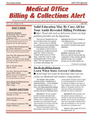 Medical Office Billing & Collections Alert