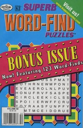 Superb Word Find Bonus